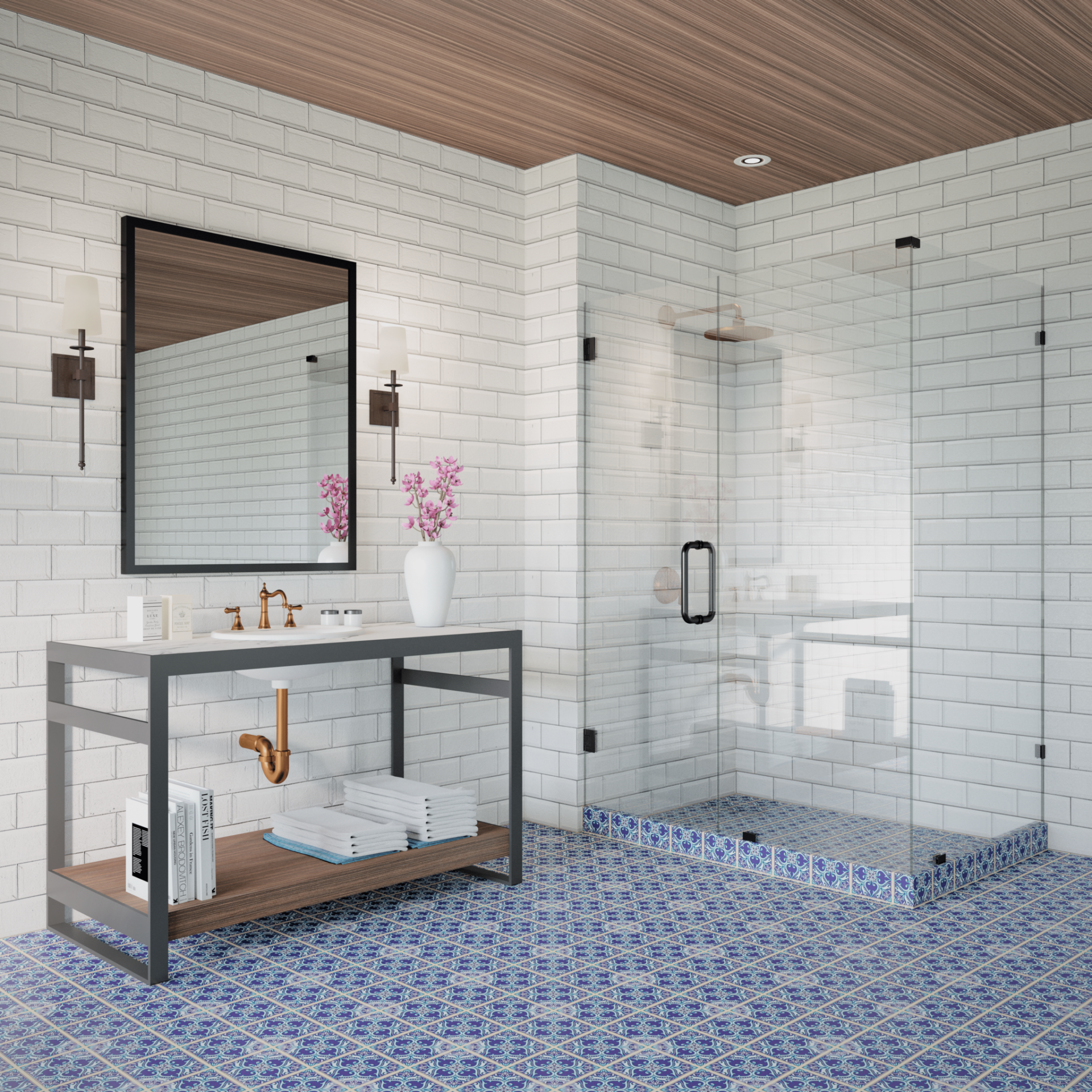 Online Special 90 Degree Frameless Glass Shower 36 64 Wide 76 80 Tall 11 5 36 Return Free Shipping